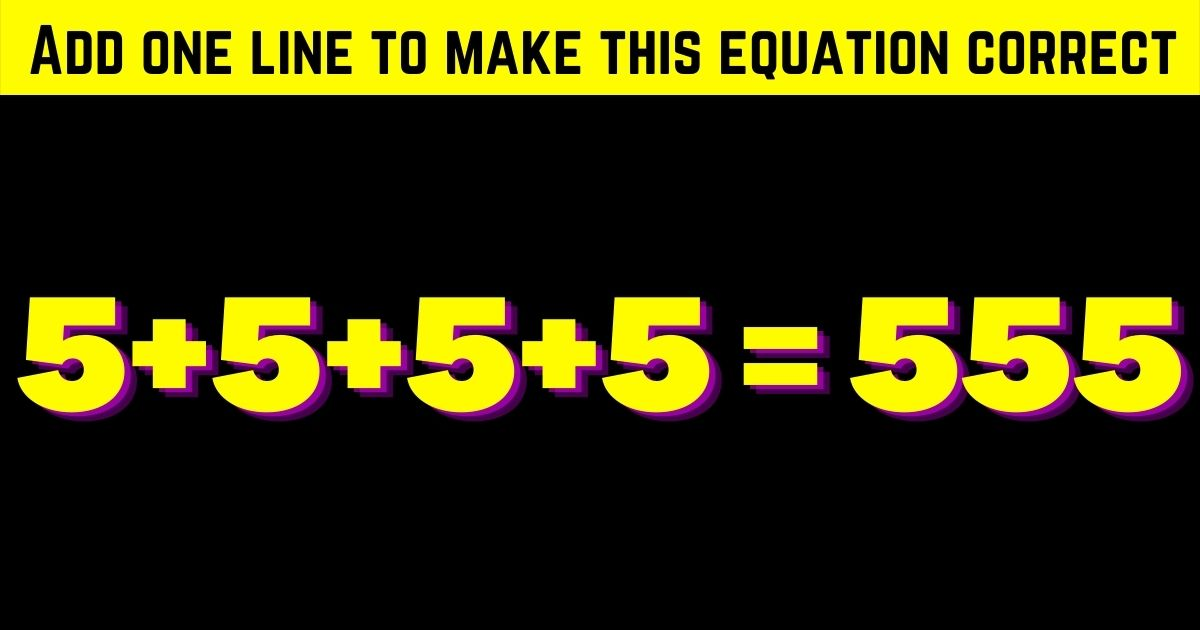 correct4.jpg - Add One Line To Make This Equation Correct! Can You Solve This Simple Test?