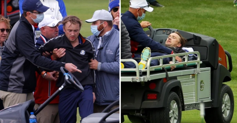 screenshot 2021 09 24 164303.png - The Famous Draco Malfoy Of The Harry Potter Series, Tom Felton, Fell Ill And Was Stretchered Off The Ryder Cup Golf Course