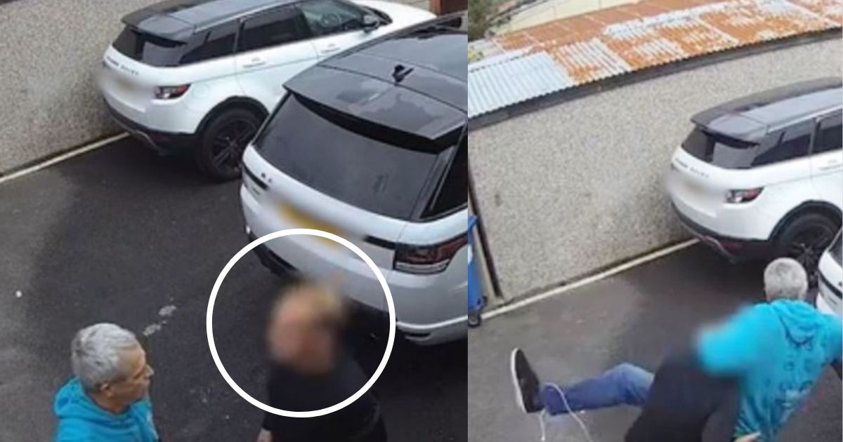 smalljoys 40.jpg - Terrifying Moment When 64-Year-Old Grandpa Was Body Slammed By A Man After An Argument About His Neighbor's Car Was Caught On Security Camera