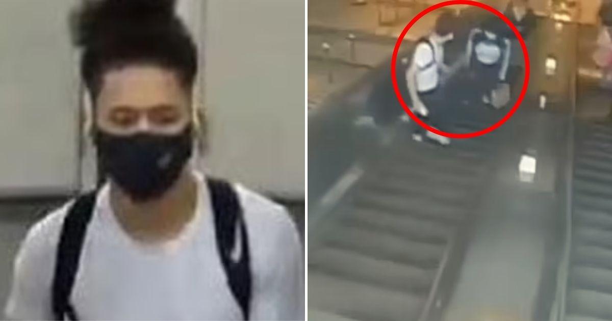 suspect4.jpg - Infuriating Moment A Man Kicks A Female Commuter Down An Escalator