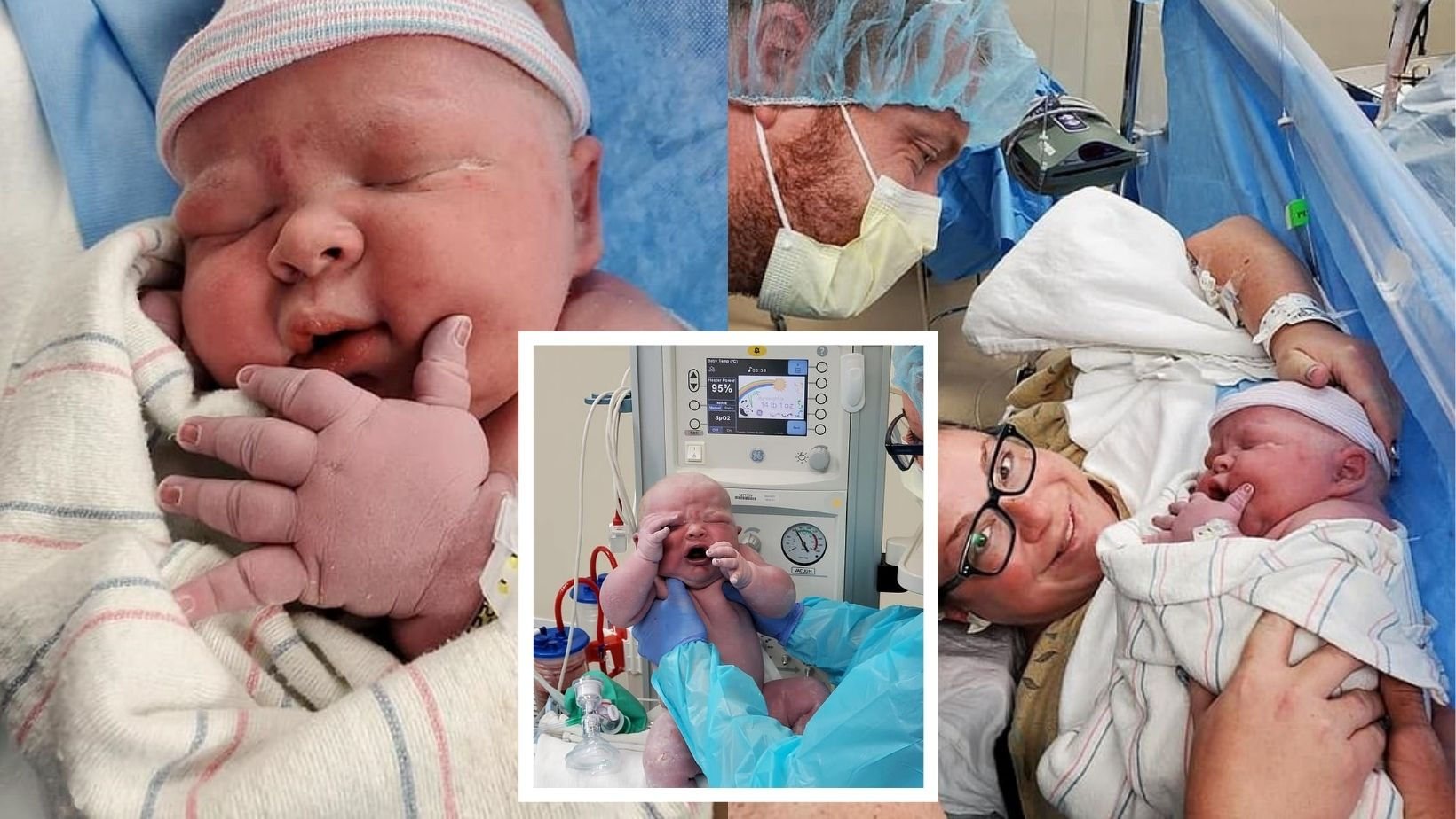 1 60.jpg - Arizona Mother Gives Birth To A Huge Baby Boy Who Weighs TWICE THE SIZE Of An Average Newborn!