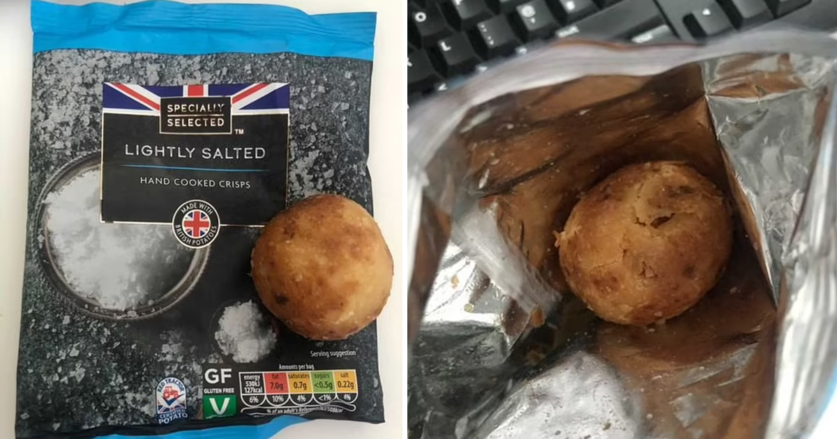 82.jpg - Soggy Potato Instead Of Salted Crisps! Woman Was Startled To Find Out A Whole Potato In A Bag Of Crisps