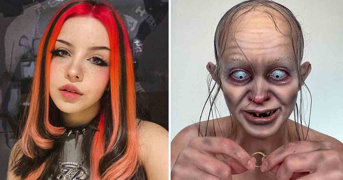 q5 1 2.jpg - Epic Halloween Makeover Frightens Followers After Artist Transforms Herself Into Gollum From 'Lord Of The Rings'