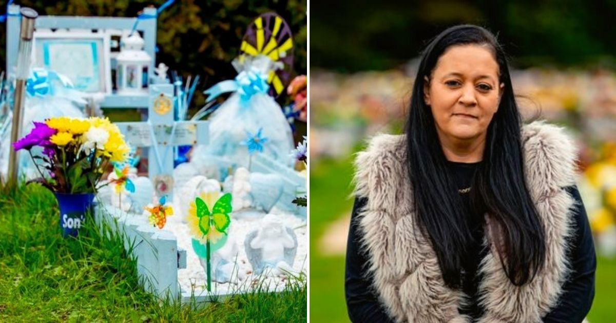 twins6.jpg - Grieving Mother Was Given Days To Clear Twin Boys' Graves Or Risk Losing Handmade Decorations Laid Down For Her Children