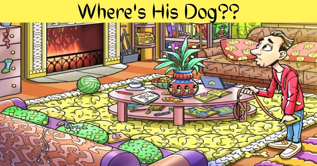 wheres his dog.jpg - Can You Find The Man's Dog In 10 Seconds? Only Eagle-Eyed People Can Spot The Adorable Pooch!
