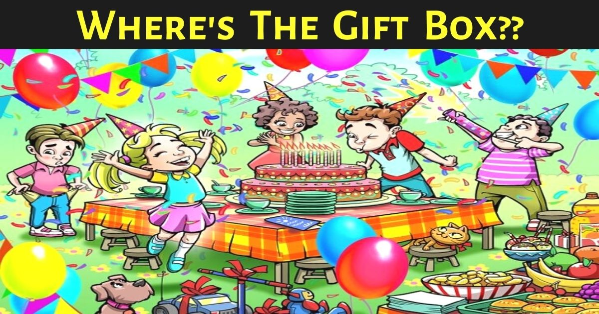 wheres the gift box.jpg - 90% Of People Couldn't Find The Gift Box In This Joyful Scene - But Can You Beat The Odds?