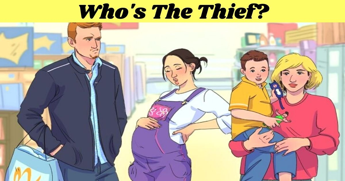 whos the thief.jpg - Can You Find Out Who The Thief Is By Taking One Look At These Suspects? Only 1 In 5 People Figured It Out!
